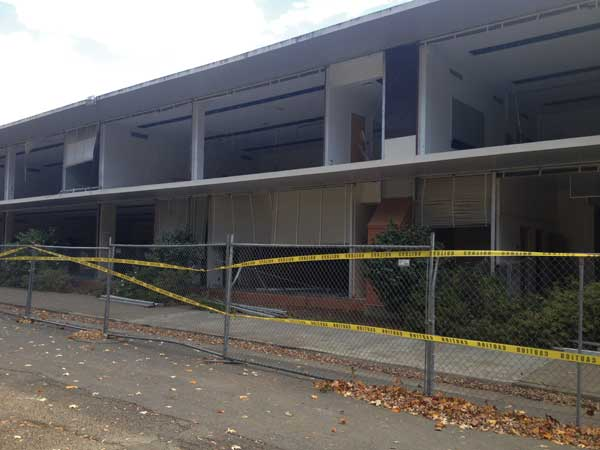Taylor Hall is scheduled to be demolished over winter break. Photo by Aubrey Crosby