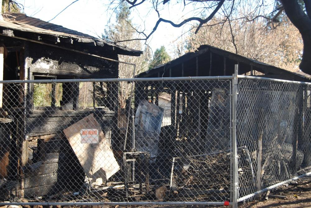 The fire started in the detached garage and then spread to the rear portion of the home.Photo credit: Mozes Zarate