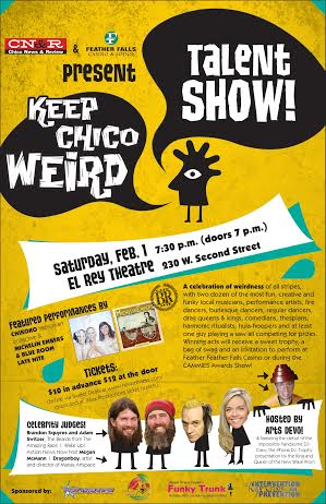 Flyer for Keep Chico Weird. Photo courtesy of Keep Chico Weird.