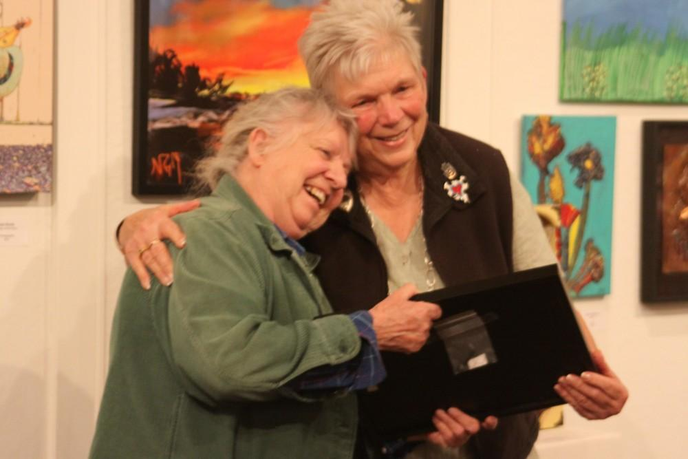 The Lifetime Award was presented to Sadie Card during the Members' Showcase in honor of the 20 years she has dedicated to bringing art to the Chico community.Photo credit: Yoselin Calderon