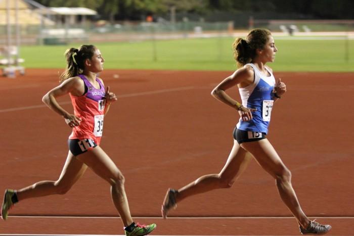 Kara Lubieniecki and Alia Gray running in the Payton Jordan Invitational 10k. Photo credit: Gary Towne