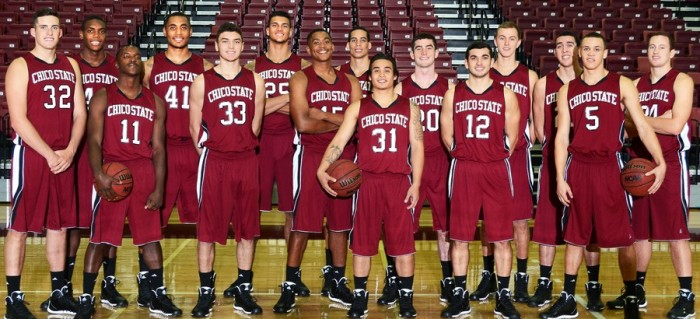 The 2014 men's basketball team matched the 1941 Wildcats' best start of 14-4. Photo courtesy of Chico State.