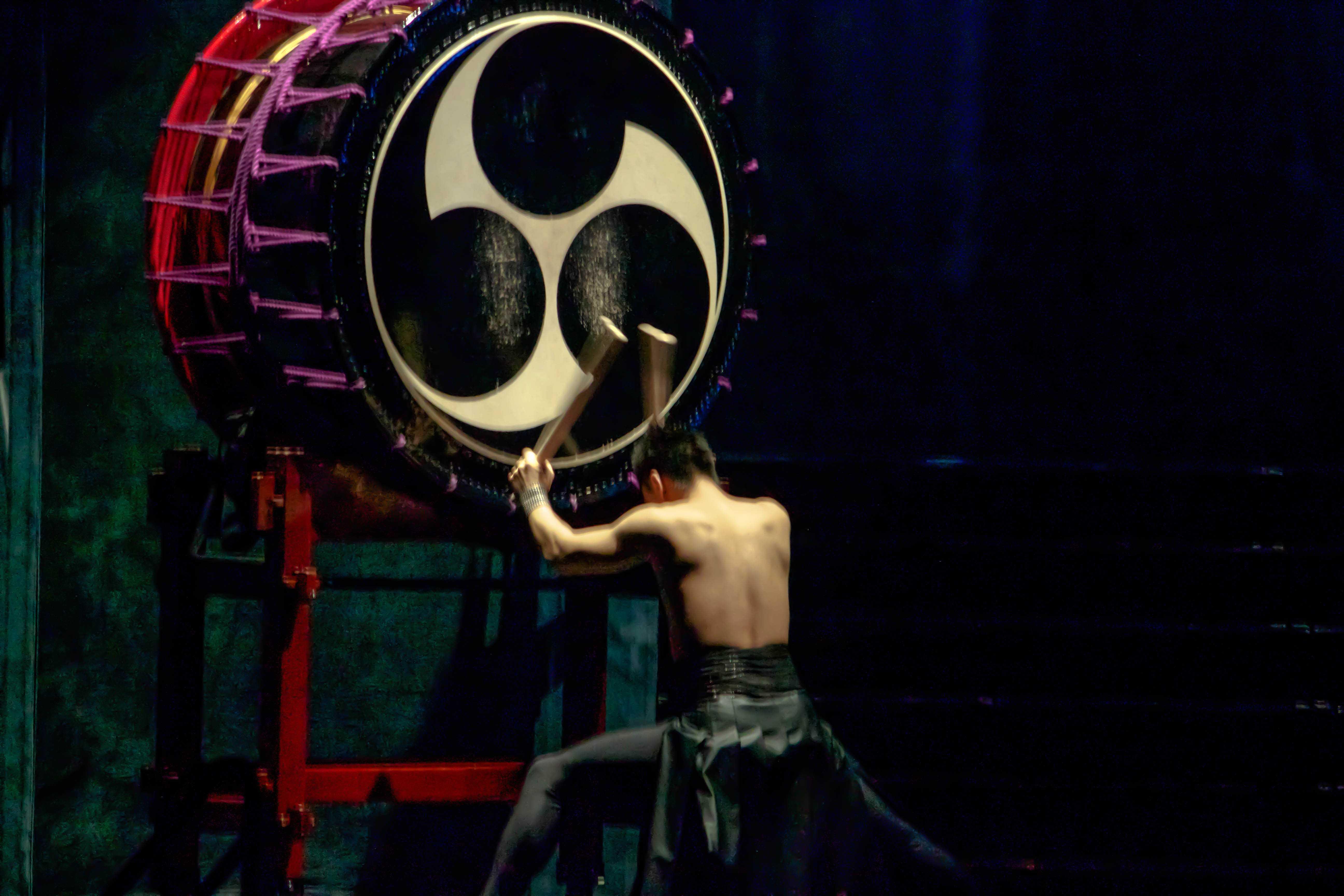 Japanese drummers represent cultural rhythm
