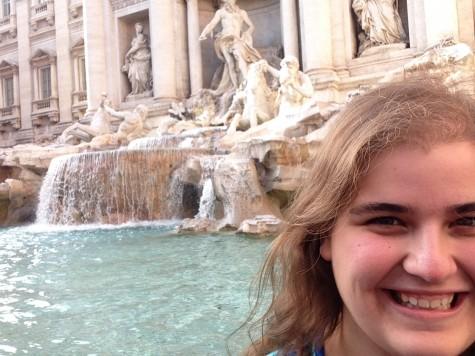 Orionite Michelle Manera at the Trevi Fountain in Rome.