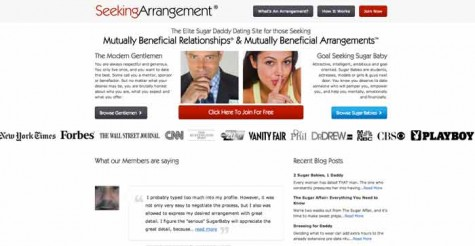 SeekingArrangement is a website where older wealthy singles hook up with younger people. The site is used by some college students looking to pay off college debt.