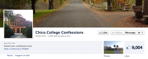 The Chico College Confessions Facebook page has 9,004 likes and receives several confessions a day.