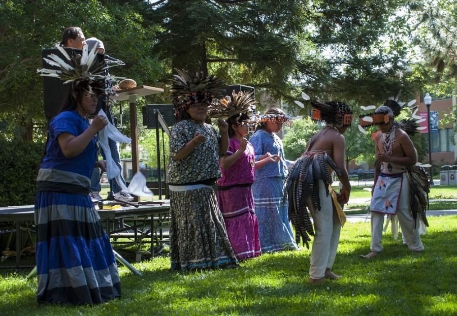 Dancers and guest speakers were featured in the Tree of Peace ceremony. Photo credit: Alex Boesch