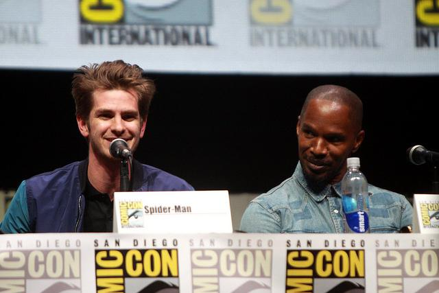 Photo Credit to Gage Skidmore via FLICKR  Andrew Garfield and Jamie Foxx star in the new Spider-Man film,