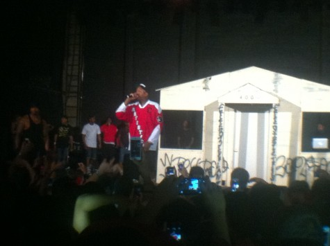Hip-hop artist YG turns up up a sold out crowd Tuesday night at the Senator Theatre. Photo credit: Michael Quiring