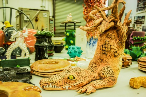 Imagination is brought to life by students in the Chico State ceramics lab. Photo credit: Chelsea Jeffers