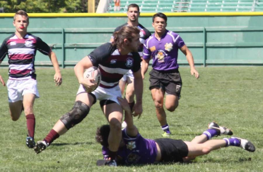 Chico State rugby captain Charlie Brennan competes in a match earlier this season. Photo credit: Salahadin Albutti