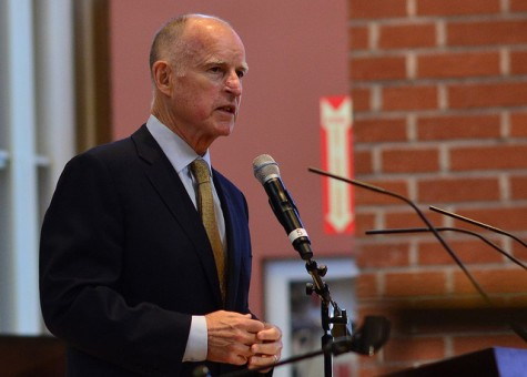 Governor Jerry Brown. Photo courtesy by Neon Tommy via Flickr.