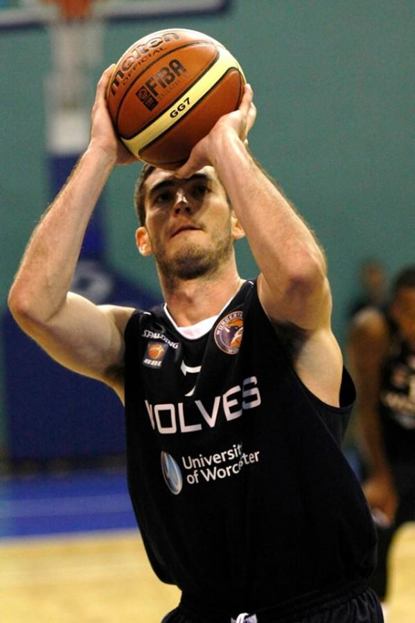 Former Chico State basketball player Sean Park prepares to take a shot for his new team overseas. Photo courtesy Sean Park