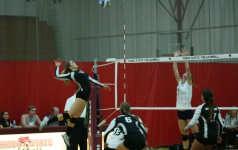 Volleyball player leads offensive attack
