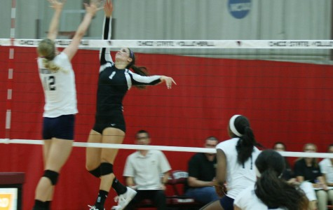 Uncommon hitting style key to volleyball offense