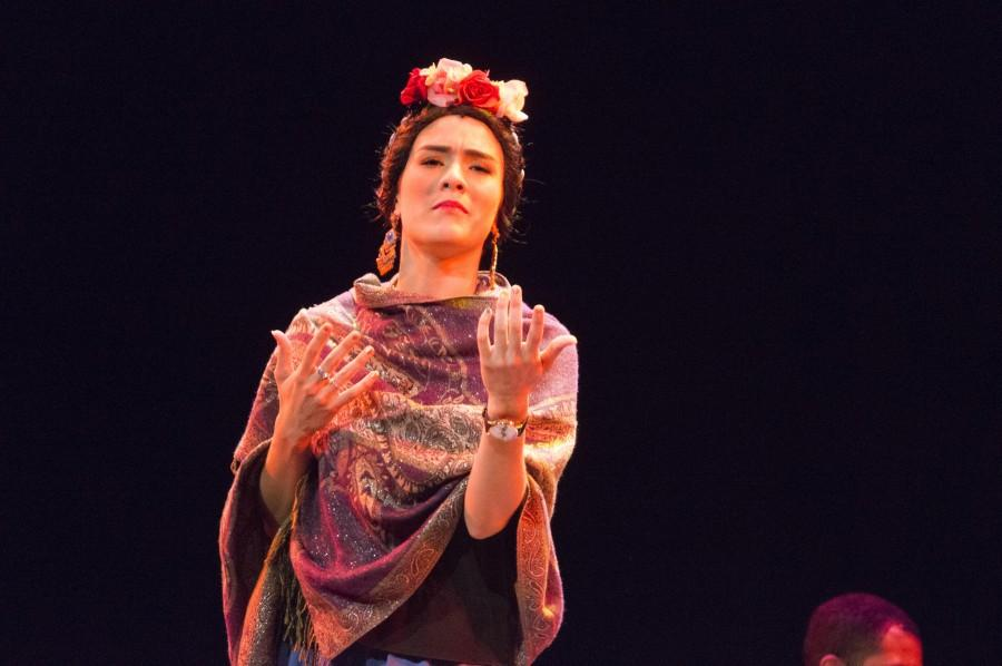 Actress and singer Cristina Isabel Lucas portrays painter Frida Kahlo in