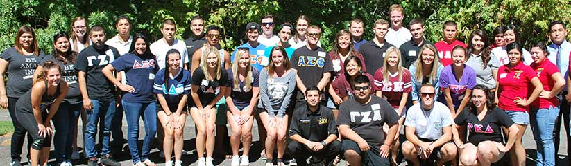 Chico State fraternity and sorority students. Photo courtesy of Chico State