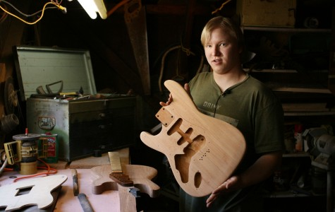 Local guitarist creates custom instruments, hopes to expand business