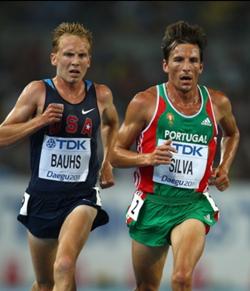 Former Chico State distance runner Scott Bauhs, left, competes for Team USA. Photo Courtesy Scott Bauhs