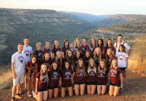 The Chico State women's cross-country team in Upper Bidwell Park earlier this season. The team is currently preparing for the California Collegiate Athletic Association championships. Photo courtesy of Gary Towne