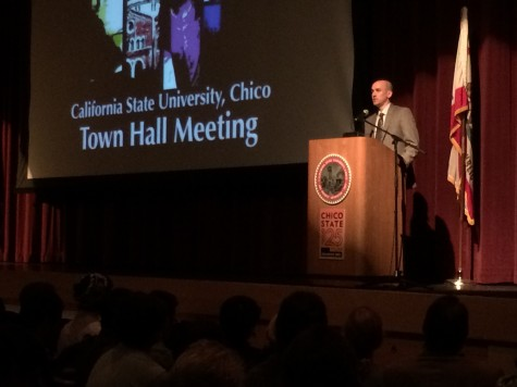 Ryan Patten, Chair of the political science department spoke at the Town Hall Meeting on Thursday Nov. 13 Photo credit: Jovanna Garcia