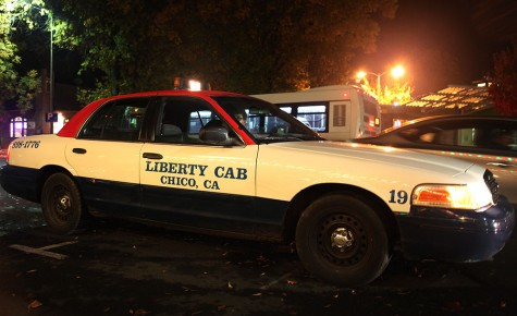 Hossam Brahem of Chico Liberty Cab picks up a customer Nov. 22 on West Second and Ivy streets. Photo credit: John Domogma