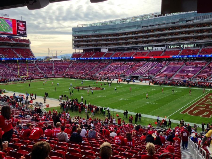 A view of the San Francisco 49ers' new stadium, Levi's Stadium, in Santa Clara. Photo credit: Kevin Lucena
