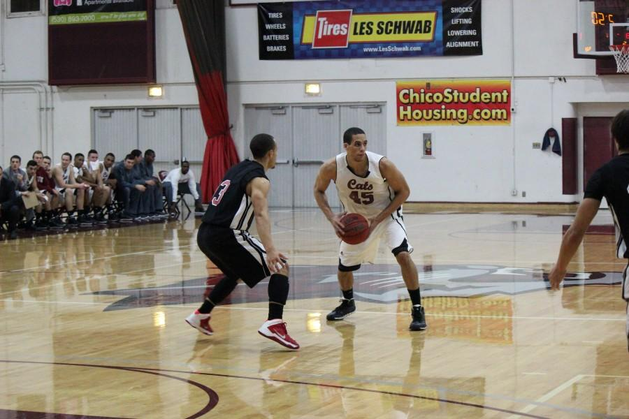 Senior Jordan Semple, this season's only returning starter, scored 13 points in Saturday's win against the Cal State Stanislaus Warriors. Photo credit: Lindsay Pincus