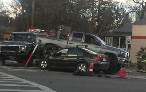 3 cars entangled in collision on 9th Street