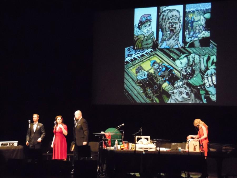 Intergalactic Nemesis is a graphic novel come-to-life as it is narrated by voice actors while accompanied by live music and sound effects. Photo credit: George Johnston