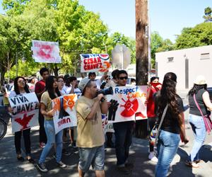 M.E.Ch.A. marches to inform locals about Cesar Chavez