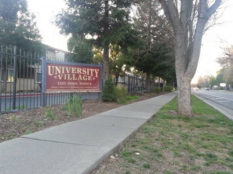 A Chico State student was arrested on suspicion of drug sales and possession at University Village, located on Nord Avenue, Photo credit: Brittany Mcclintock