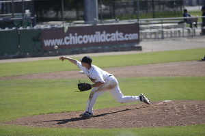 Chico State baseball players hit the field