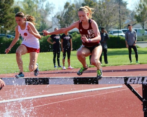 First-year runner Alex Burkhart competes in the steeplechase at the San Francisco State Distance Carnival on April 4. Photo courtesy of Alex Burkhart