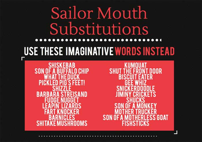 Using sailor mouth substitutions, students can resist the social norm of swearing and create a more colorful vocabulary. Photo credit: Claire Martinez