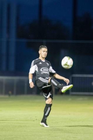 Practice makes perfect as Luis Martinez prepares for his match. Photo courtesy of Luis Martinez.