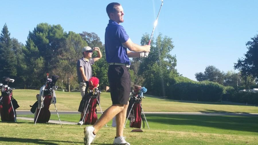 Lee Gearhart, senior men's golfer, looks to lead his team this season and add CCAA Championship to his list of accomplishments. Photo credit: Sam Barker