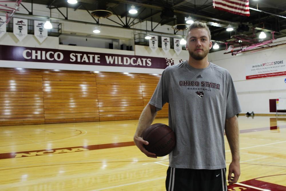 Tanner Giddings shows his school spirit in Acker Gym on Wednesday morning. Photo credit: Kiana Alvarez