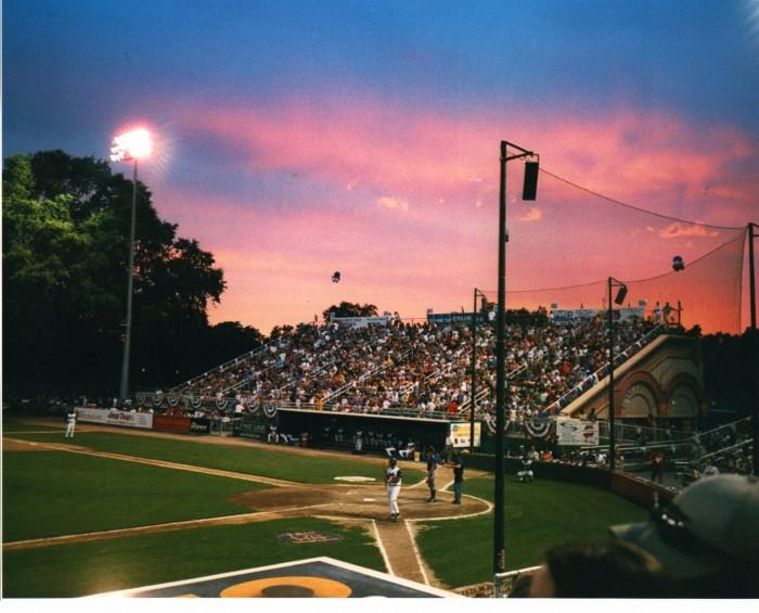 Fourth of July in Nettleton Stadium during the Heat's 2001 season. Photo courtesy of Hunter Hampton.