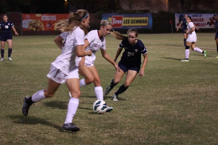 The Chico State Wildcats beat the California Baptist University Lancers 4-0 on Sept. 17. Photo credit: Allisun Coote