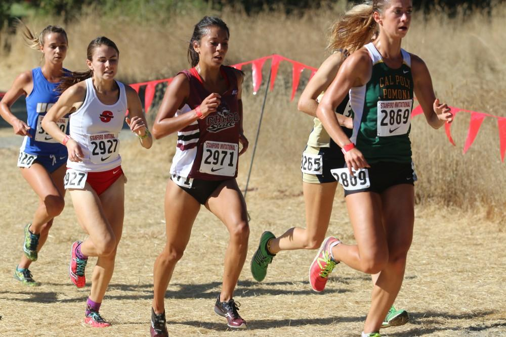 Quetta Peinado finished 9th overall in the Women's Open division for Chico State with a time of 21:50.0. Photo courtesy of Gary Towne.