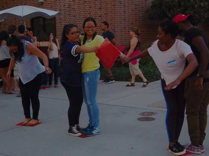 Members of B.O.L.D. play an ice breaker game at to kick off their meeting. Photo credit: Samantha O'Reilly