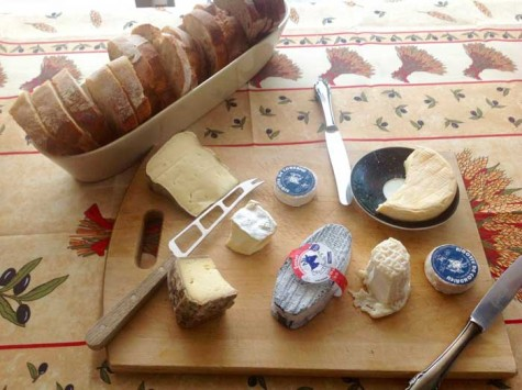 A tasteful assortment of various types of cheese, eagerly awaiting to be paired with the perfect wine, beer or cider. Photo credit: Grace Kerfoot