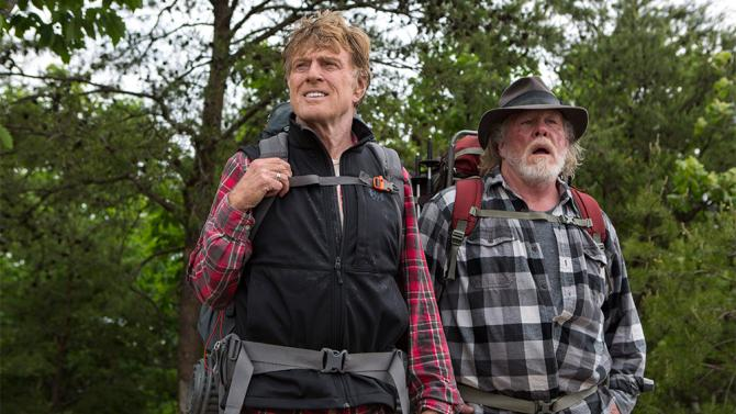 Robert Redford and Nick Nolte are childhood friends who come together to hike the Appalachian Trail in
