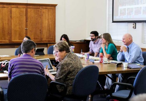 The Academic Senate meets in Kendall Hall room 207/209 to discuss joint decisions made by administration and faculty.