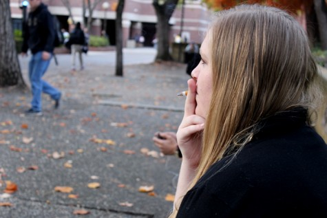 Chico State has specific smoking areas on campus for students. Photo credit: Kiana Alvarez