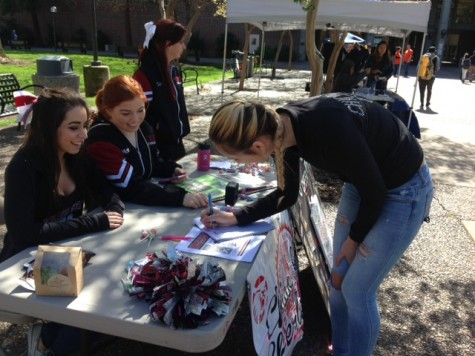 The Chico State Cheer team hopes to add up to 12 new team members for the next season. Photo credit: Gabriel Sandoval