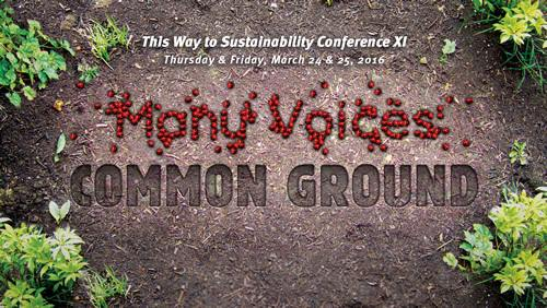 Sustainability conference includes 'many voices, common ground'