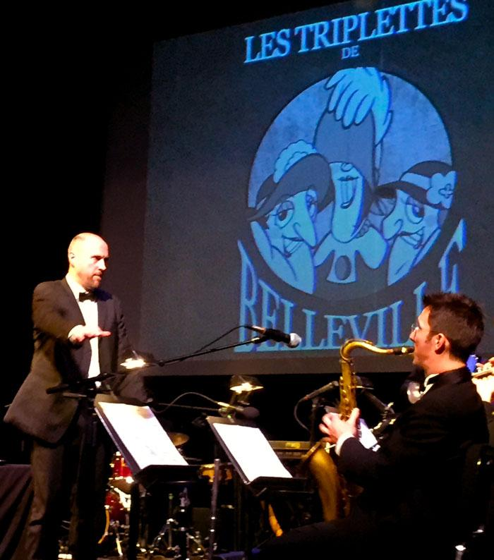 Benoit Charest conducts the horn section. Photo credit: Matthew Manfredi