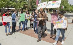 Students rally against Christian advocate